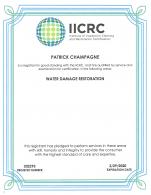 IIRC water damage restoration technician